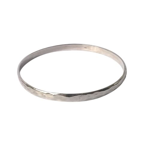 Silver Hammered L by Solid Silver Bracelet Hammered L Collection By Amara Amara Jewellery Notonthehighstreet