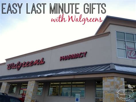 Walgreens Gift Card Center - easy last minute gifts using walgreens photo center