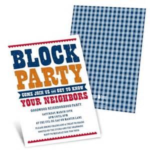 neighborhood block invitations giddy with gingham pear tree greetings