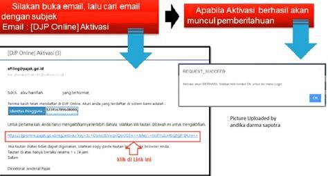 email djp djp online efin cara daftar dan lapor spt efiling 2016