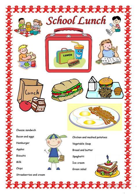 1951 free esl food worksheets school lunch worksheet free esl printable worksheets
