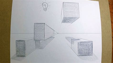 2 Drawings In 1 by How To Draw Boxes In 1 Point Perspective