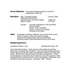 paralegal resume 11 free documents in pdf