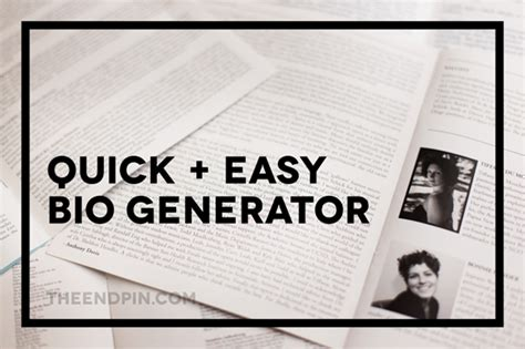 political biography title generator the endpin quick easy bio generator