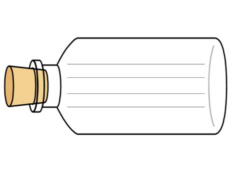 bottle template message in a bottle writing frame by ruthbentham