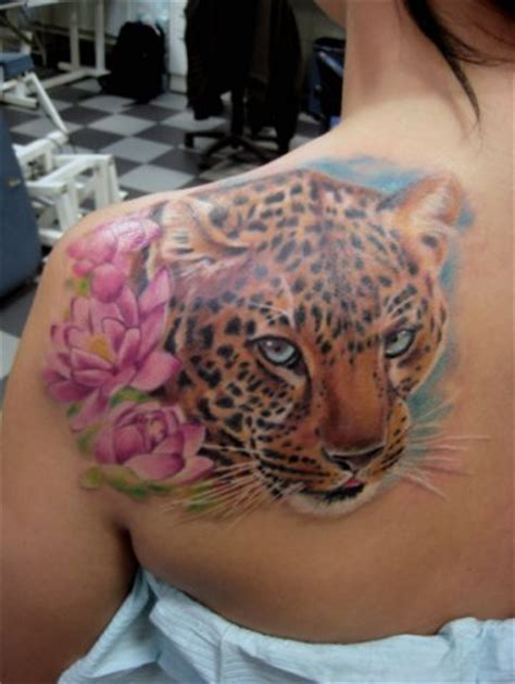 Leopard Tattoos And Designs Page 56 Cheetah Print Tattoos With Flowers