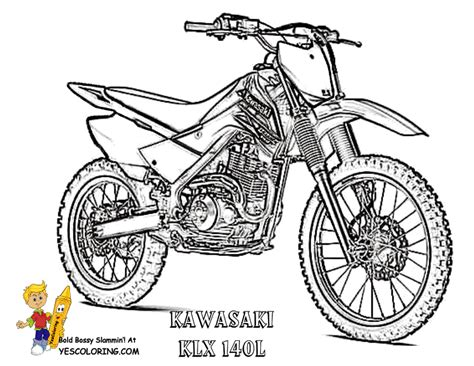 magnificent motorbike coloring pages free kawasaki fmx