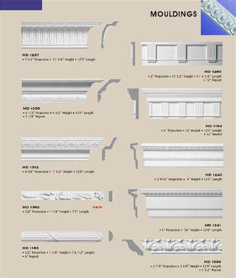 Home Design Architectural Series 18 first class building products interior crown moulding