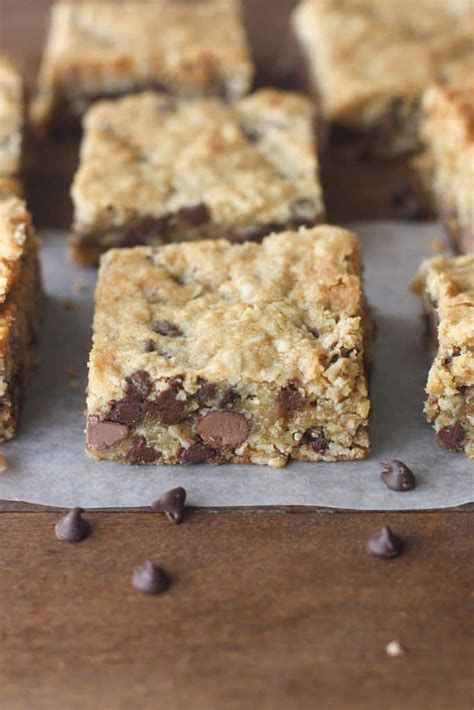 oatmeal bars with chocolate topping oatmeal chocolate chip cookie bars tastes better from