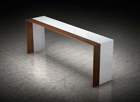 modern walnut console table white and walnut console table ml bedivere hallway