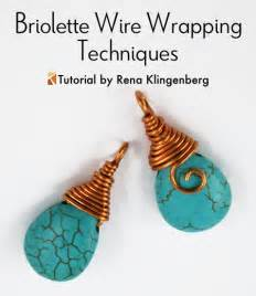 briolette wire wrapping techniques tutorial jewelry
