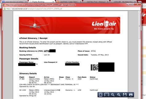 email lion air cetak sendiri tiket booking lion air anda secara online