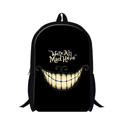 aliexpress buy cool we are all mad here backpacks