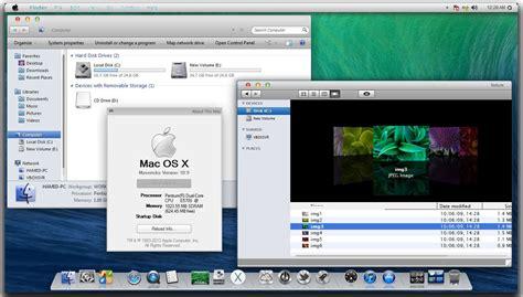 themes for windows 7 os mac osx maverick theme for windows 7 keripik citul