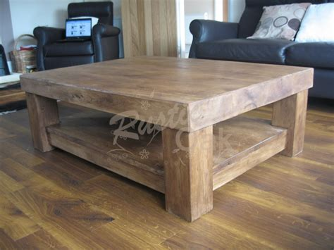 chunky rustic coffee table chunky 4 leg coffee table with shelf rustic oak