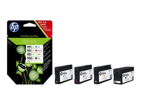 Hp 950xl Dan 951xl Sheet Black Magenta Yellow Cyan c2p43ae hp 950xl 951xl combo pack 4 pack black