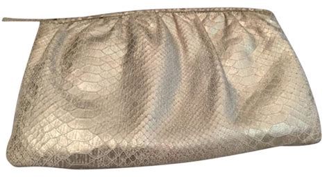 Clutch Python Embossed Gold python white gold embossed leather clutch tradesy