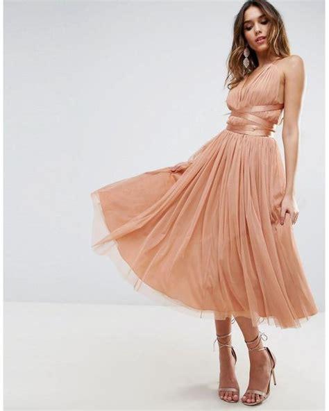 Terlaris Ribbona Dress Promo Asos Premium Tulle Midi Prom Dress With Ribbon Ties In