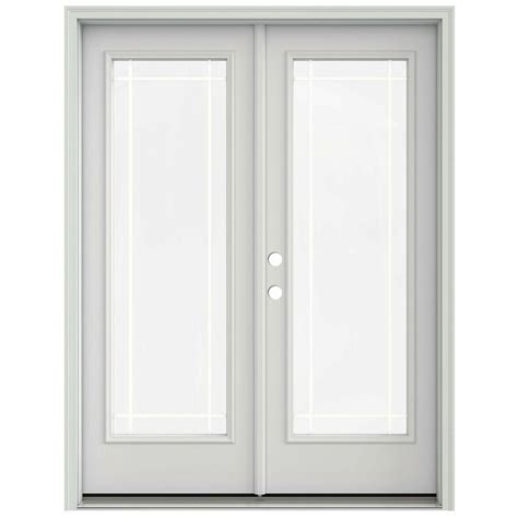 prehung interior french doors home depot jeld wen 60 in x 80 in primed prehung right hand inswing