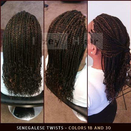 senegalese twist with color senegalese twists colors 1b and 30