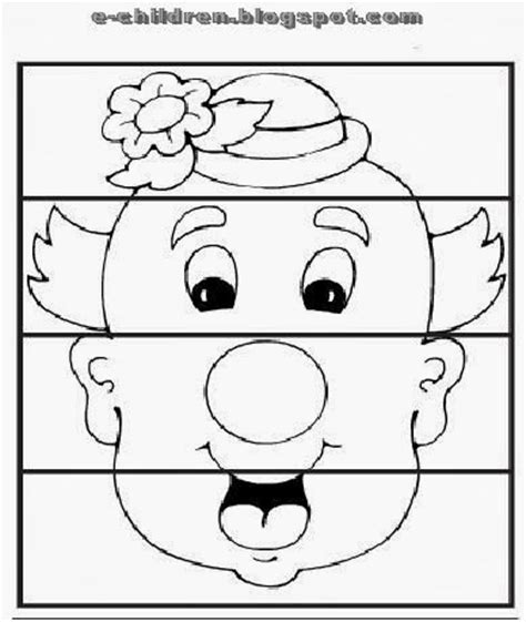 clown template preschool clown puzzle worksheet preschool for