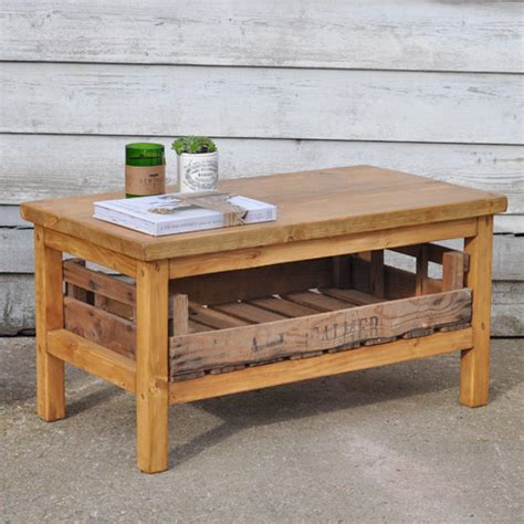 Rustic Crate Coffee Table Rustic Coffee Table With Crate Drawer Home Barn Vintage
