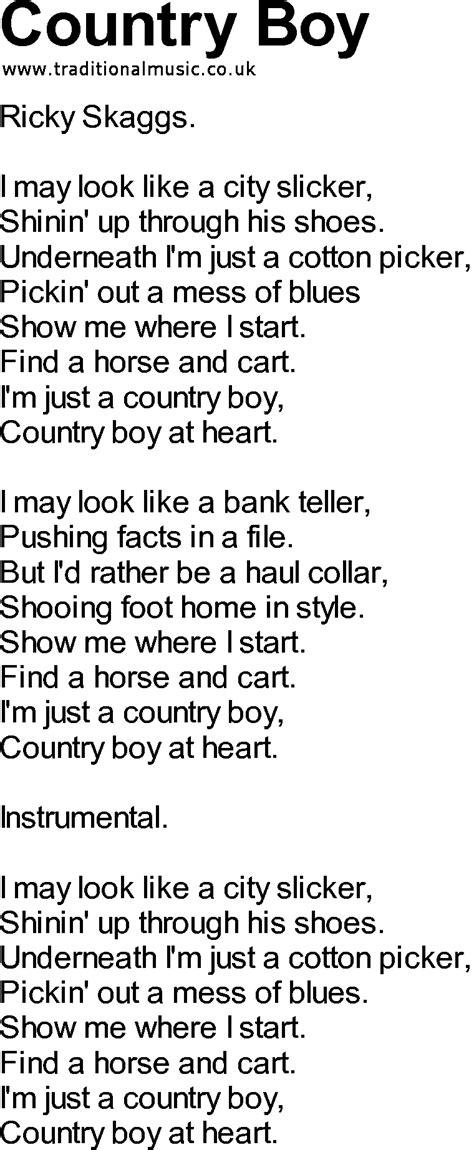 Country Boy Guitar Chords