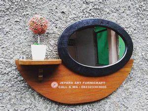 Cermin Meja Oval tetap best seller bufet cermin minimalis vintage jati oval