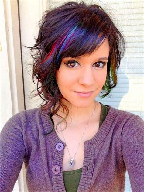 hairstyles peekaboo highlights peek a boo highlights short hair hairs picture gallery