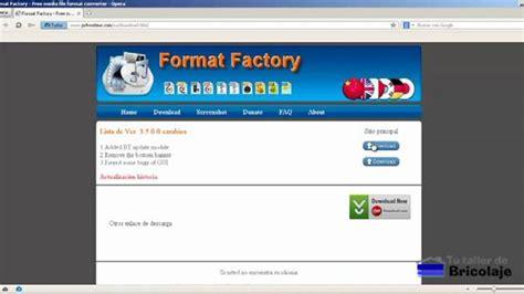 format factory descargar c 243 mo convertir videos a otro formato tutallerdebricolaje com