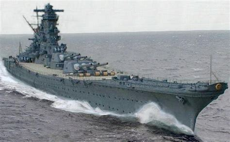 Largest Ship In The World ijn yamato a very impressive artists view of yamato at