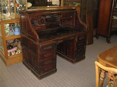 Antique Mahogany Roll Top Desk Antique Furniture