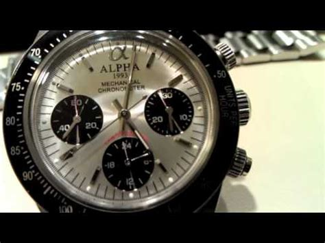 Watch Paul 2011 2 Review Of The Alpha Paul Newman Or Alpha Daytona Watch Youtube