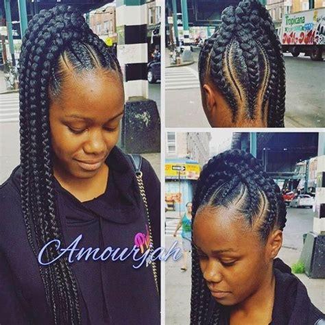 best 25 goddess braids updo ideas on pinterest natural gallery big braid ponytail black hairstle picture