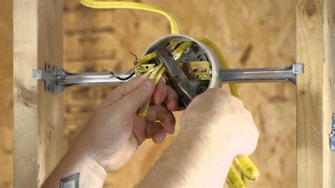 Installing Light Fixture Box How To Run An Outlet From A Lighting Fixture Box Diy Electrical Work