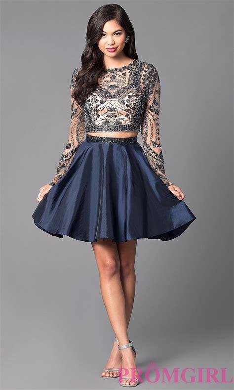 Short Long Sleeve Homecoming Dresses   Oasis amor Fashion