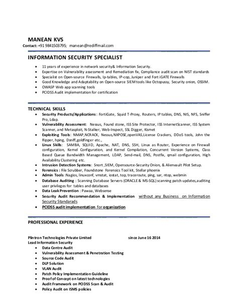 Industrial Security Specialist Sle Resume by Personnel Security Specialist Resume 28 Personnel Security Specialist Resume Sle Regulatory