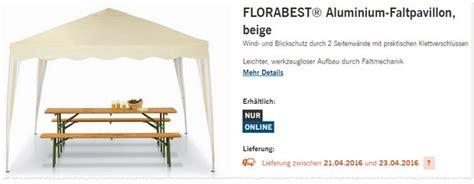 Faltpavillon Im Angebot by Florabest Pavillon Als Lidl Angebot Ab 21 4 2016