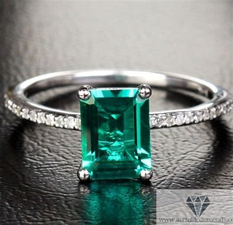 emerald cut emerald engagement ring 2 35 ct white gold