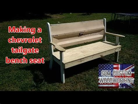 how to make tailgate bench making a chevrolet tailgate bench seat youtube