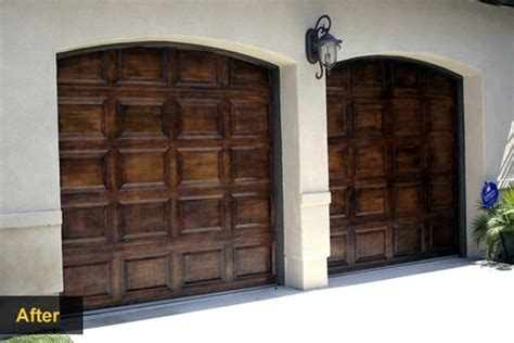 Pimp Your Garage Door With These Diy Makeover Ideas Faux Finish Garage Doors