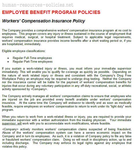 Workers Compensation: Workers Compensation Policies