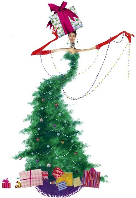 christmas tree fashion illustration by robert wagt