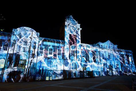 3d santa christmas light projection show 3d mapping projections dibari associates
