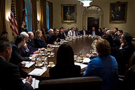 White House Cabinet by Cabinet Room White House