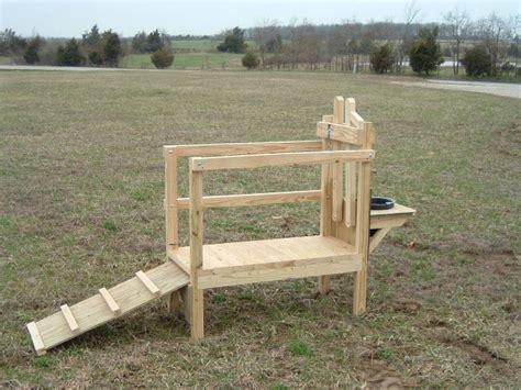 milking bench diy wooden bench buy wooden goat milking stand plans