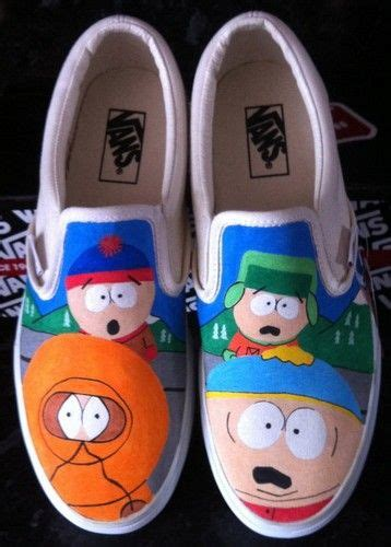 south park slippers south park shoes south park slip on painted canvas shoes