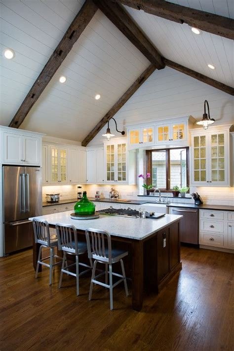 25 best ideas about vaulted ceiling kitchen on