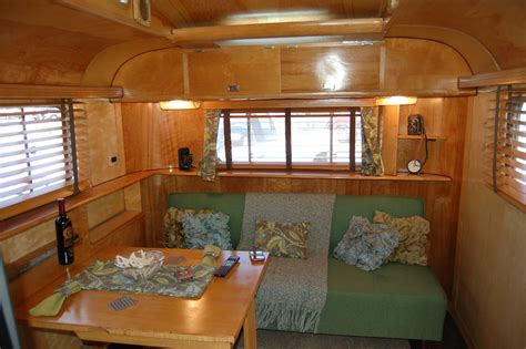 1948 westcraft sequoia trailer interior showing designer dining area