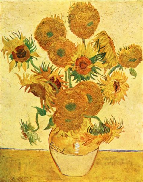 Vase With Fifteen Sunflowers by Thepapersunflower Vincent Gogh